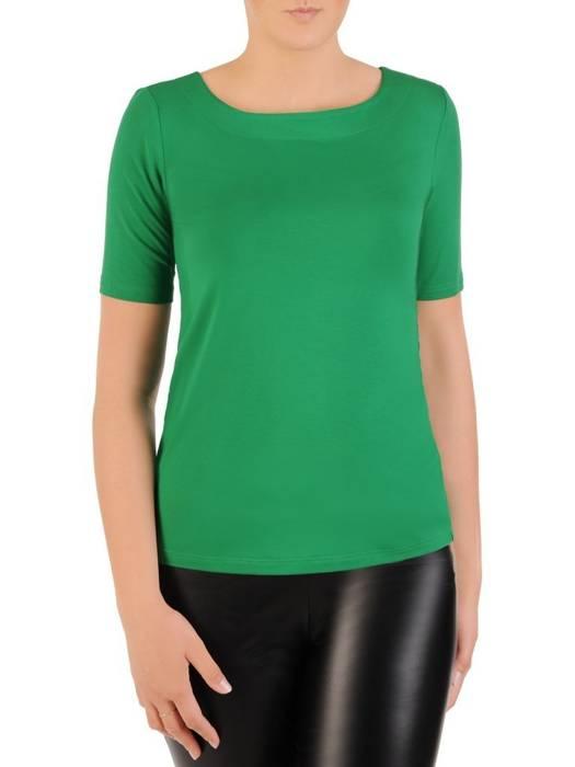 Zielona bluzka z elastycznej dzianiny 30054