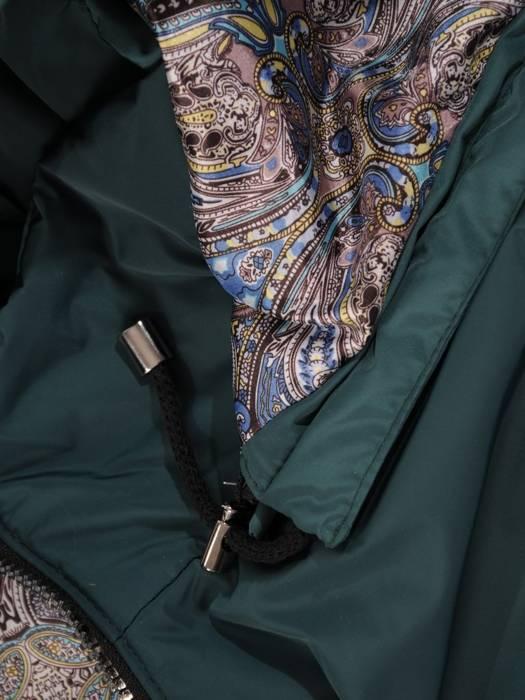 Zielona kurtka z odpinanym kapturem 29082