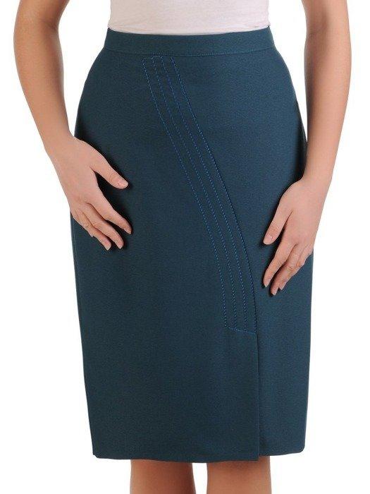 Zielona spódnica z przeszyciami 25501