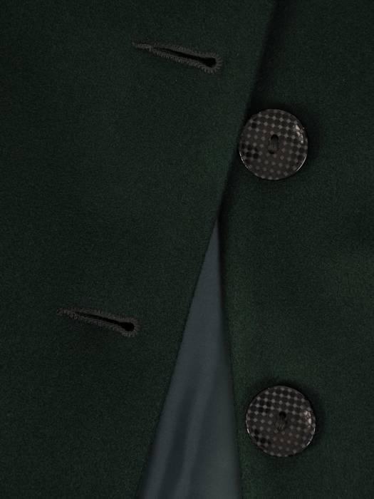 Zielony płaszcz ze stójką 27225