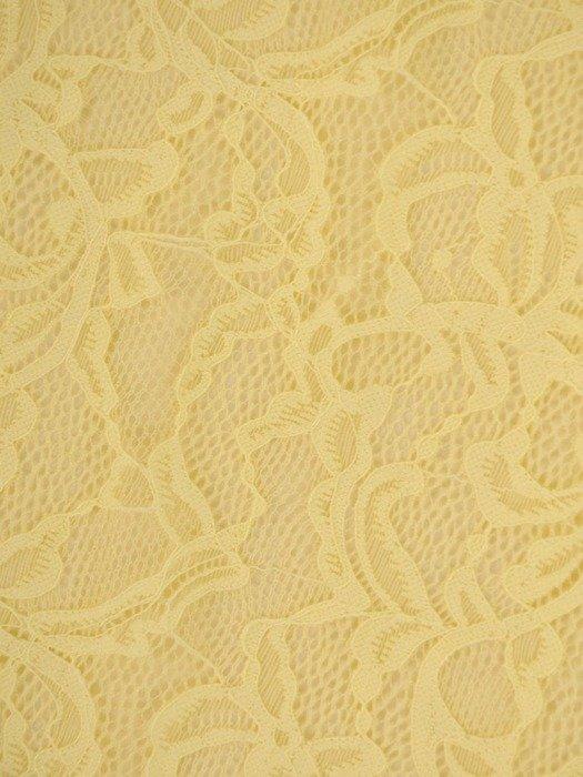 Żółta tunika z koronkowym przodem 24946