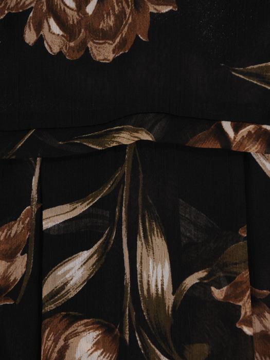 Zwiewna sukienka w kwiaty, modna kreacja z szyfonu 22207.