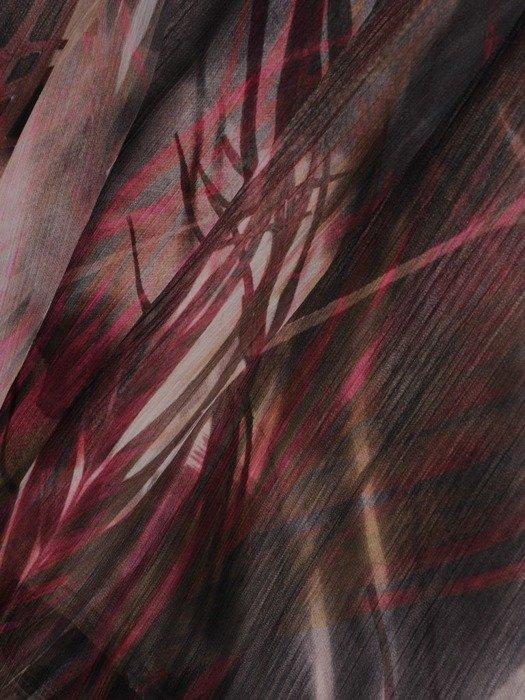 Zwiewna sukienka z falbankami przy rękawach 25486
