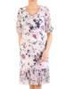Dzianinowa sukienka z szyfonowymi rękawkami i plisami  29595