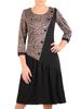 Prosta sukienka na jesień, kreacja z ozdobną falbaną i guzikami 31005
