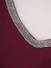 Asymetryczna sukienka z dekoltem wykończonym cyrkoniami 22770
