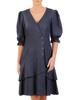 Bawełniana sukienka, kreacja z ozdobnymi guzikami i falbankami 30373