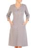 Bawełniana sukienka z zamkiem, rozkloszowana kreacja z kieszeniami 30536
