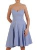 Błękitna wieczorowa mini sukienka gorsetowa 24900