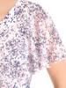 Bluzka w kwiaty z ozdobnymi rękawami 29979