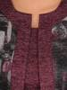 Bordowa dzianinowa sukienka, kreacja z imitacją żakietu 28152