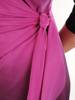 Cieniowana sukienka wyjściowa z bocznym wiązaniem w pasie 26919