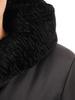 Czarna kurtka damska z ozdobnym kołnierzem 30663