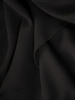 Czarna sukienka wieczorowa z ozdobnym, tiulowym topem 31107