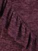Dzianinowa sukienka z ozdobnymi falbanami 27924