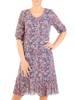 Dzianinowa sukienka z szyfonowymi rękawkami i plisami 30131