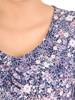 Dzianinowa sukienka z szyfonowymi rękawkami i plisami 30132