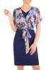 Elegancka sukienka damska z szyfonową górą i wiązaniem 29862