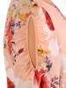 Elegancka sukienka w kwiaty z ozdobnie wyciętymi rękawami 28885