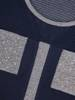 Granatowa bluzka damska z ozdobnymi kieszonkami 27858
