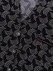 Granatowa bluzka zapinana na guziki w kontrastowym wzorze 24441