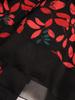 Jesienna sukienka z długim rękawem i szyfonową falbaną 31077