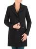 Klasyczny, czarny płaszcz z kołnierzem 27143