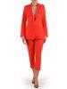 Kolekcja 28355, wiosenne żakiety oraz spodnie cygaretki w kolorze pomarańczowym
