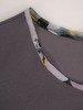 Kolekcja 28368, kwiatowa tunika z szyfonowymi wstawkami oraz gładkie spodnie