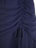 Kopertowa sukienka maxi, kreacja z ozdobną baskinką 30723