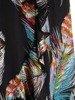 Kopertowa sukienka z falbankami na rękawach 25449