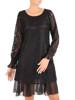Koronkowa sukienka o trapezowym kroju, kreacja z falbanami 27386
