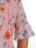 Kostium damski, pomarańczowa sukienka z delikatnym żakietem 26219