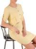Letnia, przewiewna sukienka w kolorze żółtym 29649