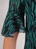 Luźna kreacja z szyfonu, zwiewna sukienka w ciekawy wzór 24664