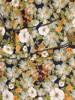 Luźna sukienka w kwiaty, zwiewna kreacja z ozdobnymi rękawami 30179