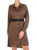 Modna rozpinana sukienka z ozdobnym paskiem 27884