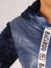 Pikowana kurtka damska na wiosnę w kolorze dżinsowym 28842