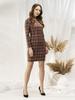 Prosta sukienka na jesień, kreacja w modną kratę 30565