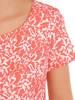 Prosta sukienka w oryginalny wzór, kreacja z ozdobnymi wiązaniami 30205