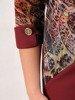 Prosta sukienka z oryginalnym topem, elegancka kreacja wyszczuplająca brzuch 24176