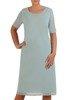 Prosta sukienka z szyfonową narzutką ,elegancki komplet wizytowy 25928