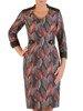 Prosta sukienka z tkaniny, kreacja w jesienny wzór 23164