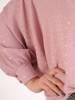 Pudrowa bluzka z przedłużanym tyłem 28646