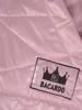 Pudrowa, pikowana kurtka z kapturem 29274