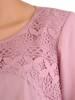 Pudrowy komplet damski, eleganckie spodnie z luźną bluzką 29583