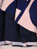 Rozkloszowana sukienka w kontrastowy wzór 29802