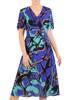 Rozkloszowana sukienka w oryginalnym wzorze 30052