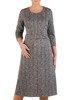 Rozkloszowana sukienka z dzianiny, kreacja z paskiem 22980