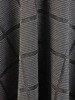 Rozkloszowana sukienka z kopertowym dekoltem, kreacja w modną kratę 24164